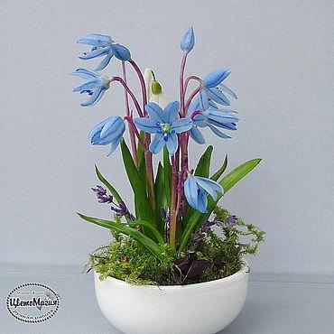 Flowers and floristry handmade. Livemaster - original item Spills on the window of polymer clay. Handmade.