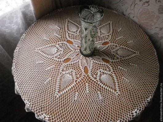 """Текстиль, ковры ручной работы. Ярмарка Мастеров - ручная работа. Купить Двухцветная скатерть,120 см, """"Лилия"""". Handmade."""