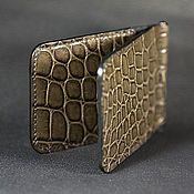 Сумки и аксессуары handmade. Livemaster - original item Wallet money clip crocodile leather money clip wallet. Handmade.
