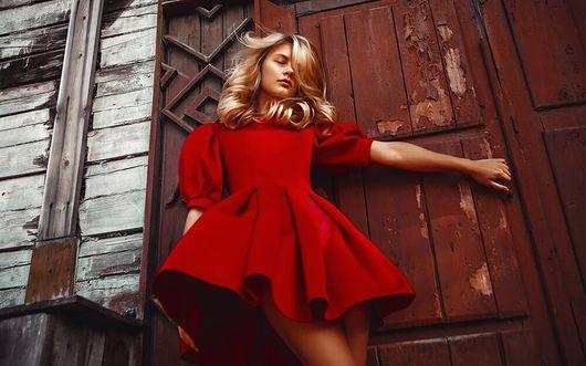 Платья ручной работы. Ярмарка Мастеров - ручная работа. Купить Красное платье. Handmade. Красное платье, красный