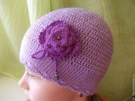For-elka. Вязаная акриловая шапочка для девочек. Ручная работа.