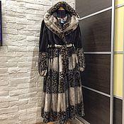 Одежда ручной работы. Ярмарка Мастеров - ручная работа Шуба норковая Шахрат 54-56 р-р платьем в пол. Handmade.