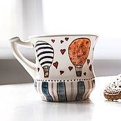 Посуда handmade. Livemaster - original item The history of Aeronautics. Cup handmade ceramics. Handmade.