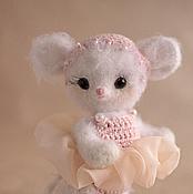 Куклы и игрушки ручной работы. Ярмарка Мастеров - ручная работа Мышка Тедди. Анжелина-балерина. Handmade.