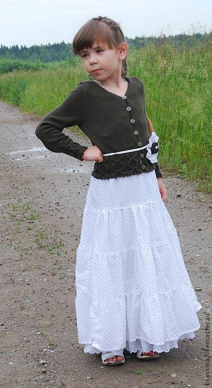 Одежда для девочек, ручной работы. Ярмарка Мастеров - ручная работа. Купить Жакет вязаный для девочки Каштаны. Handmade. Жакет