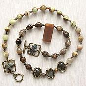 """Украшения handmade. Livemaster - original item Бусы """"Заповедник"""" из оникса, агата и других поделочных камней. Handmade."""