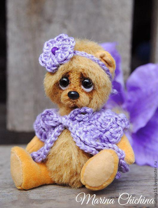 Мишки Тедди ручной работы. Ярмарка Мастеров - ручная работа. Купить Лили. Handmade. Бежевый, авторская работа, стеклянный гранулят