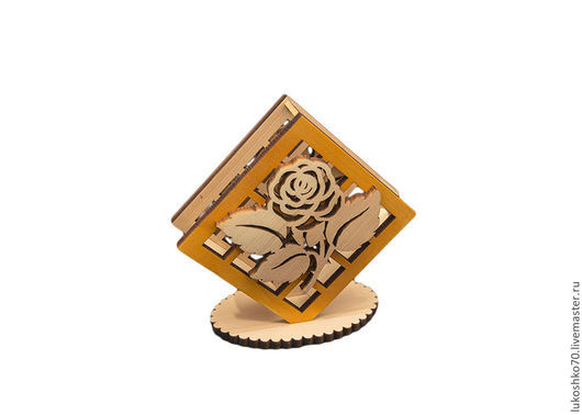 """Кухня ручной работы. Ярмарка Мастеров - ручная работа. Купить Салфетница деревянная """"Роза"""". Handmade. Для дома и дачи, салфетница"""