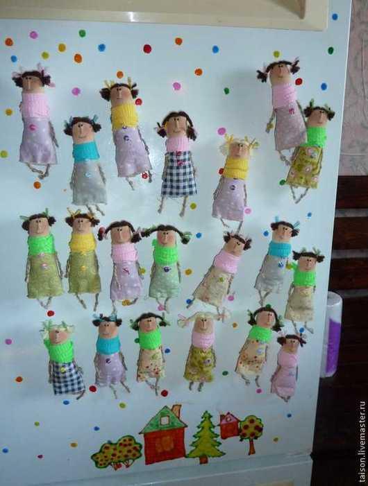 Ароматизированные куклы ручной работы. Ярмарка Мастеров - ручная работа. Купить чердачницы-подружки (магниты на холодильник). Handmade. Примитив