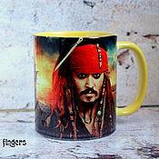 Посуда handmade. Livemaster - original item Captain Jack Sparrow mug Pirates of the Caribbean sea. Handmade.