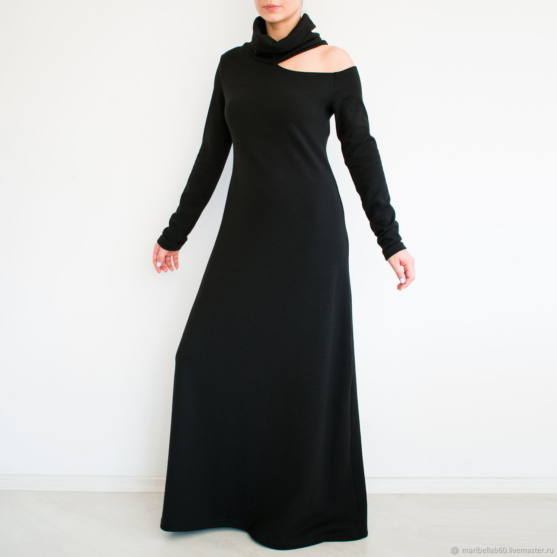 7c609d162b Dresses handmade. Livemaster - handmade. Buy Black dress Maxi dress boho  dress long sleeve ...