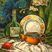 """Картины и панно ручной работы. Ярмарка Мастеров - ручная работа масло """"Натюрморт дачный"""". Handmade."""