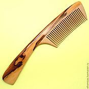 Сувениры и подарки handmade. Livemaster - original item Comb from hawthorn with ruby heart of the dragon. Handmade.
