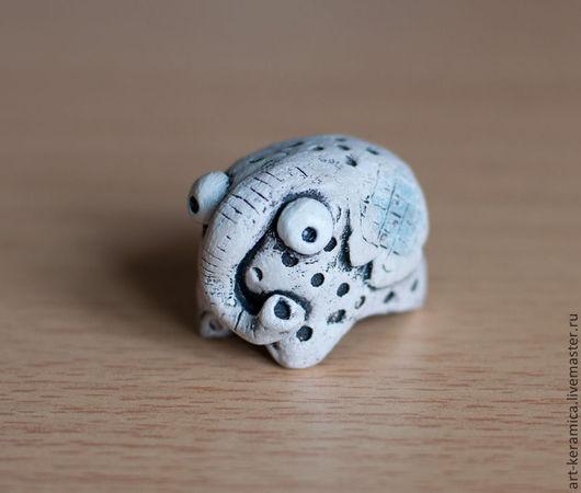 Миниатюрные модели ручной работы. Ярмарка Мастеров - ручная работа. Купить Слон керамический Эдвард. Фигурка слона, слон сувенир, слон из глины. Handmade.