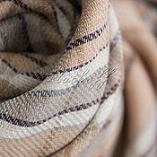 Аксессуары handmade. Livemaster - original item Beige plaid handkerchief
