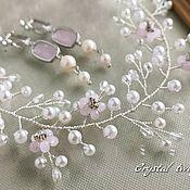 Свадебный салон handmade. Livemaster - original item Wreath-twig in the hairstyle