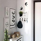 Для дома и интерьера handmade. Livemaster - original item Housekeepers: wall-mounted in the hallway. Handmade.