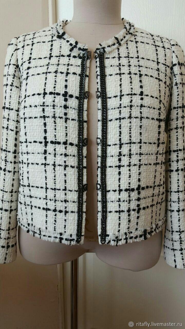 347: Женский пиджак из ткани шанель, Пиджаки жакеты, Москва, Фото №1