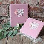 Свадебный салон ручной работы. Ярмарка Мастеров - ручная работа Свадебный комплект - книга пожеланий + папка для свидетельства. Handmade.