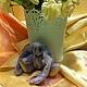 Мишки Тедди ручной работы. Ярмарка Мастеров - ручная работа. Купить зайка Бусинка. Handmade. Сиреневый, мех искусственный