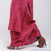 Одежда ручной работы. Ярмарка Мастеров - ручная работа Бохо платье 4-9 Брусничный. Handmade.