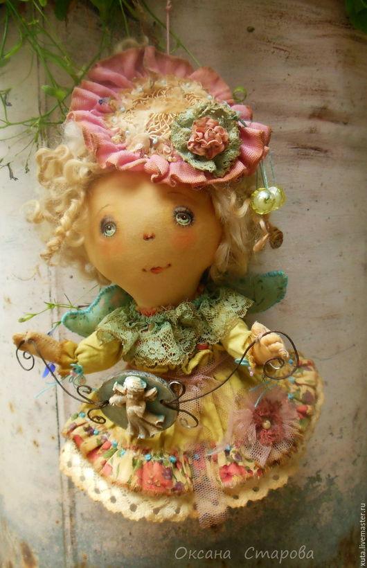 Ароматизированные куклы ручной работы. Ярмарка Мастеров - ручная работа. Купить Ангел за спиной. Handmade. Розовый, пастельная гамма