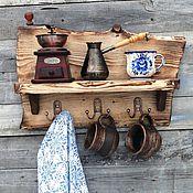 """Полки ручной работы. Ярмарка Мастеров - ручная работа """"Полка Былина""""   вешалка полка ключница. Handmade."""