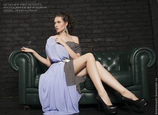 Платья ручной работы. Ярмарка Мастеров - ручная работа. Купить SALE Двухцветное платье в пол. Handmade. Платье, мероприятие, шифон