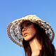 Шляпы ручной работы. Кружевная шляпка «Чудесные мгновенья». Only you.... Ярмарка Мастеров. Шляпа с полями, романтический стиль