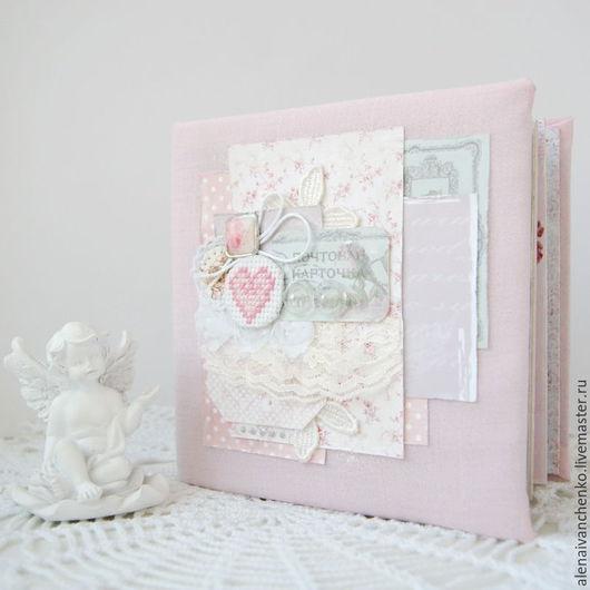 """Свадебные фотоальбомы ручной работы. Ярмарка Мастеров - ручная работа. Купить Альбом свадебный """"Розовая нежность"""" ручная работа. Handmade."""