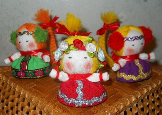 """Народные куклы ручной работы. Ярмарка Мастеров - ручная работа. Купить Оберег """"На счастье"""". Handmade. Игрушка, счастье, хлопок"""