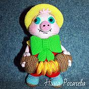 Куклы и игрушки handmade. Livemaster - original item Pig Funtik. Pig knit. Handmade.