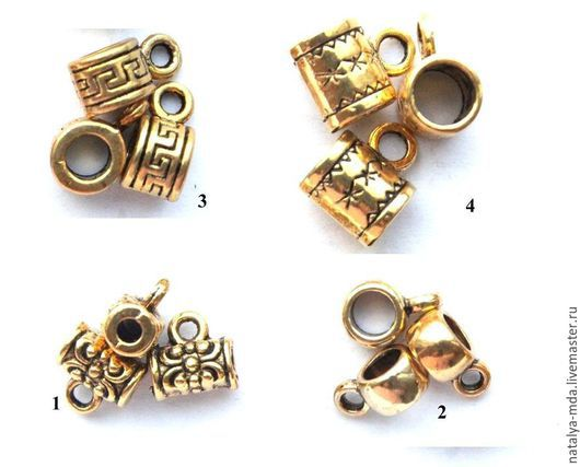 Для украшений ручной работы. Ярмарка Мастеров - ручная работа. Купить Бейлы античное золото. Handmade. Золотой, фурнитура для бижутерии
