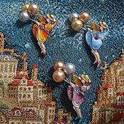 """Украшения ручной работы. Ярмарка Мастеров - ручная работа Брошь с горячей эмалью """" Воздушные шарики"""". Handmade."""
