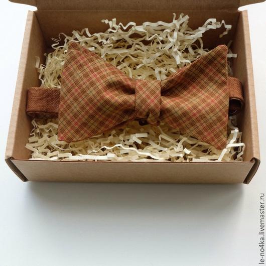 Галстуки, бабочки ручной работы. Ярмарка Мастеров - ручная работа. Купить Галстук-бабочка «Корица». Handmade. Коричневый, галстук-бабочка
