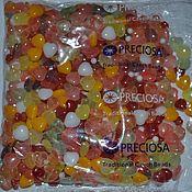 Материалы для творчества handmade. Livemaster - original item 20 gr MIX Heart multicolor Preciosa Czech beads. Handmade.