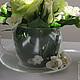 Интерьерные композиции ручной работы. Чайное действо..... Landora (Galitn). Интернет-магазин Ярмарка Мастеров. Зеленый цвет, чайная чашка
