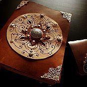 """блокнот-книга для записей из натуральной толстой кожи """"Книга солнца"""""""
