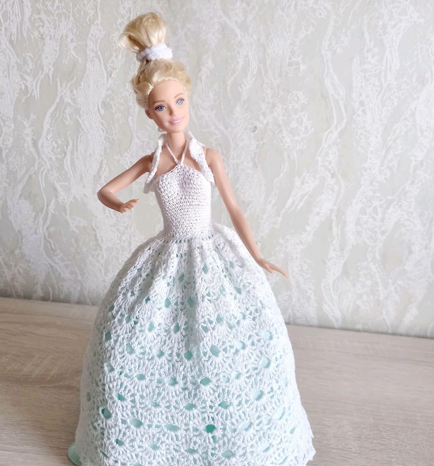Вязаное платье для Barbie, Одежда для кукол, Саратов,  Фото №1