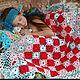 """Текстиль, ковры ручной работы. Ярмарка Мастеров - ручная работа. Купить Вязаный комплект из четырех покрывал """"Уютное тепло"""". Handmade."""