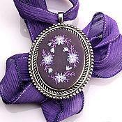 Украшения handmade. Livemaster - original item Embroidered pendant Amethyst. Handmade.