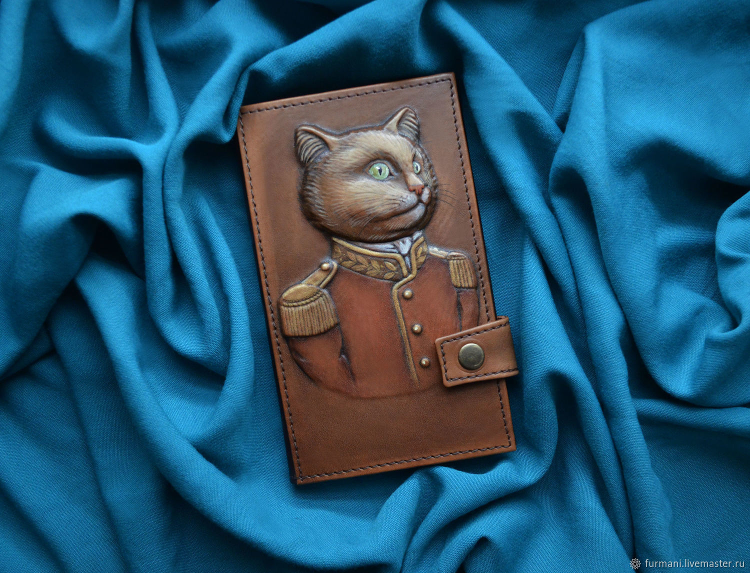 """Leather wallet """"ADMIRAL CAT"""", Wallets, Krivoy Rog,  Фото №1"""