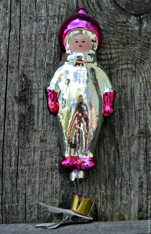 Винтажные куклы и игрушки. Ярмарка Мастеров - ручная работа. Купить Елочная игрушка прищепка. СССР. Handmade. Комбинированный, елочная игрушка