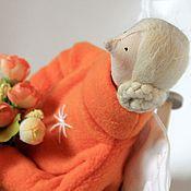 Куклы и игрушки ручной работы. Ярмарка Мастеров - ручная работа Тильда -ангел  в оранжевом. Handmade.
