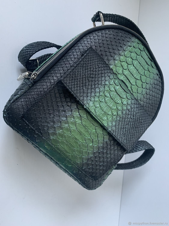 Backpack made of genuine Python leather, Backpacks, Izhevsk,  Фото №1