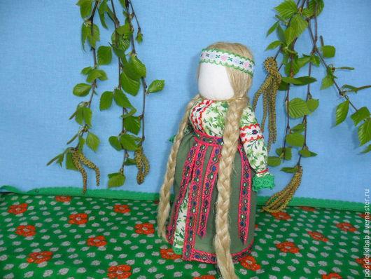 Народные куклы ручной работы. Ярмарка Мастеров - ручная работа. Купить Народная кукла Лада. Handmade. Зеленый, русская кукла