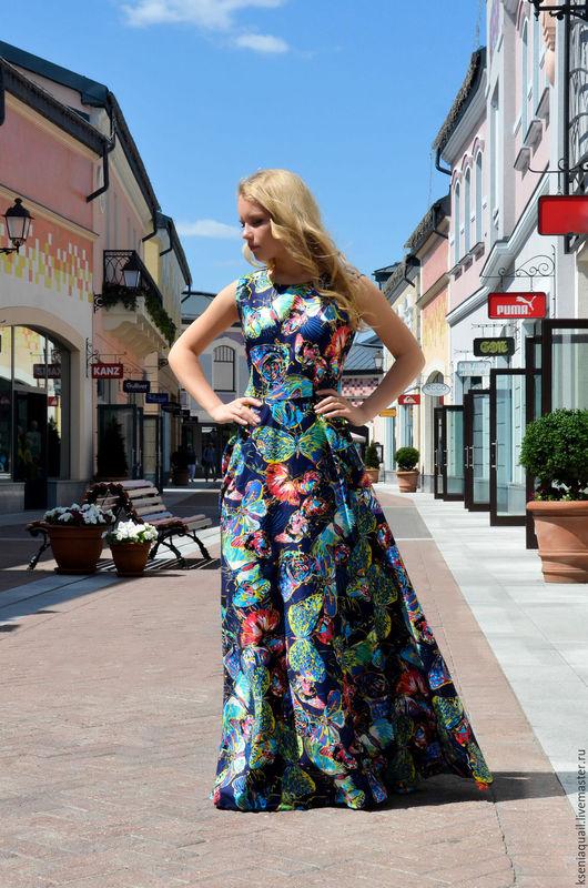 Платья ручной работы. Ярмарка Мастеров - ручная работа. Купить Полет бабочки 2. Handmade. Комбинированный, платье для отдыха