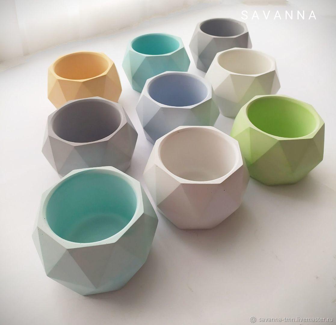Concrete planters ' N% 3', Pots1, Tyumen,  Фото №1
