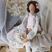 Кукла Тильда. Купить Тильду. Серый. Розовый. Молочный.
