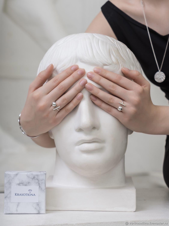 Кольцо из серебра «Притяжение», Кольца, Москва,  Фото №1